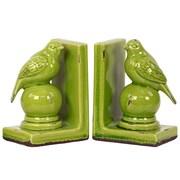 "Urban Trends Stoneware Bookend, 5.75""L x 4""W x 8""H, Green, 2/Set (11145)"
