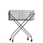"Urban Trends Metal Cart, 27.75""L x 16.25""W x 34""H, Black (12320)"