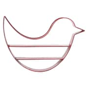 "Urban Trends Bird-Shaped Metal Shelf, 25.75"" x 4.75"" x 17.5"", Red (12342)"