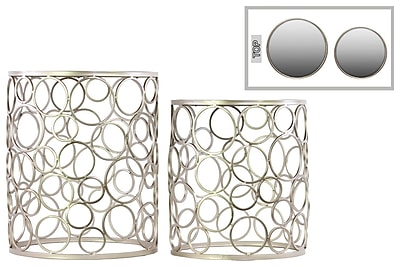 Urban Trends Collection Metal Accent Table, Gold, Each (12353)