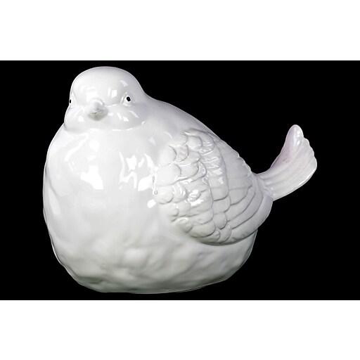 """Urban Trends Ceramic Figurine, 6.5""""L x 10""""W x 7.5""""H, White (12554)"""