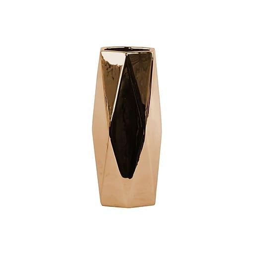 """Urban Trends Ceramic Vase, 4.5"""" x 4"""" x 10.25"""", Copper (12583)"""