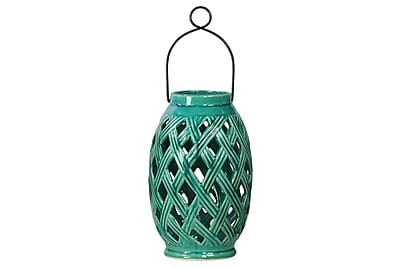 Urban Trends Ceramic Lantern, 6.75