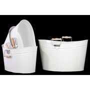 "Urban Trends Metal Bucket, 14.2"" x 7.9"" x 7.1"", White, 4/SET (13309)"