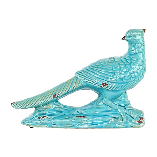 """Urban Trends Ceramic Figurine, 10.5"""" x 4"""" x 7.5"""", Turquoise (13638)"""