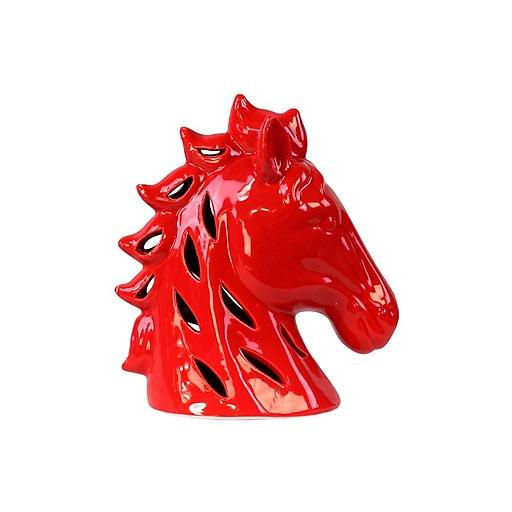 "Urban Trends Ceramic Head, 8.25""L x 4.75""W x 9.25""H, Red (13821)"