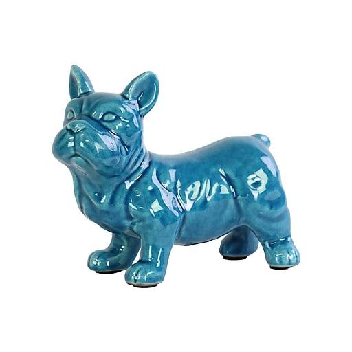 "Urban Trends Ceramic Figurine, 8.5""L x 4.5""W x 7""H, Turquoise (13836)"