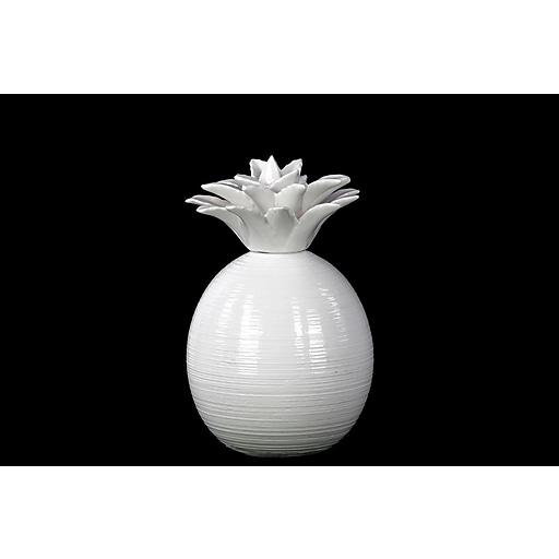 """Urban Trends Ceramic Figurine, 5.25""""L x 5.25""""W x 8.5""""H, White (13902)"""