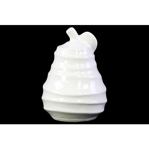 "Urban Trends Ceramic Figurine, 4.75"" x 4.75"" x 7.5"", White (14804)"