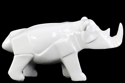Urban Trends Ceramic Rhinoceros Figurine, 11.5