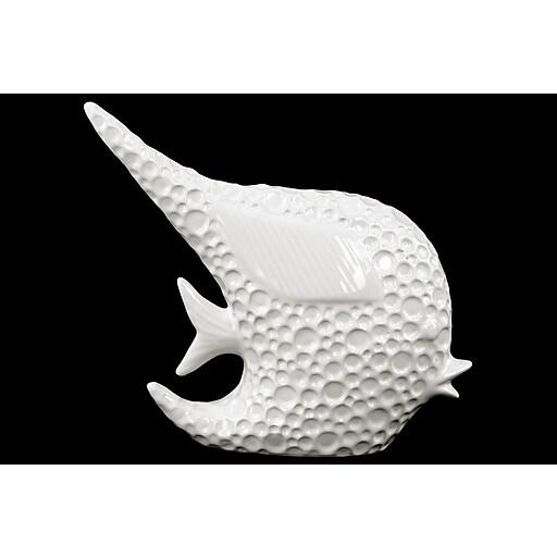 "Urban Trends Porcelain Figurine, 9.25""L x 2.56""W x 8.27""H, White (14825)"