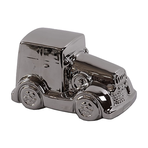 "Urban Trends Ceramic Figurine, 6.5"" x 4.25"" x 4"", Silver (21213)"