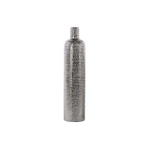 """Urban Trends Ceramic Vase, 4.5"""" x 4.5"""" x 19.5"""", Silver (21235)"""