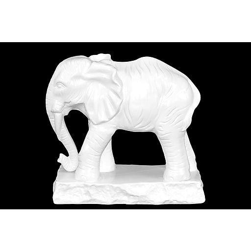 """Urban Trends Ceramic Figurine, 10""""L x 5""""W x 9.5""""H, White (22033)"""