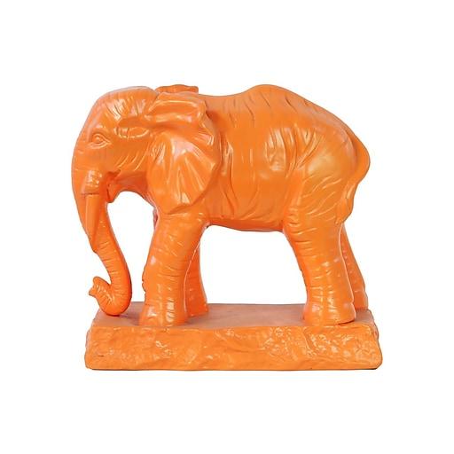 "Urban Trends Ceramic Figurine, 10"" x 5"" x 9.5"", Orange (22034)"