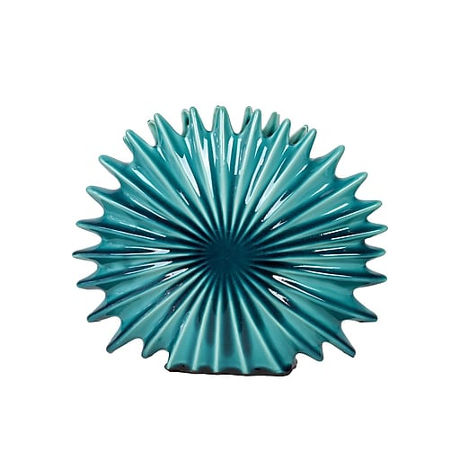 "Urban Trends Ceramic Sculpture, 12.25"" x 3.25"" x 10.25"", Blue (22108)"