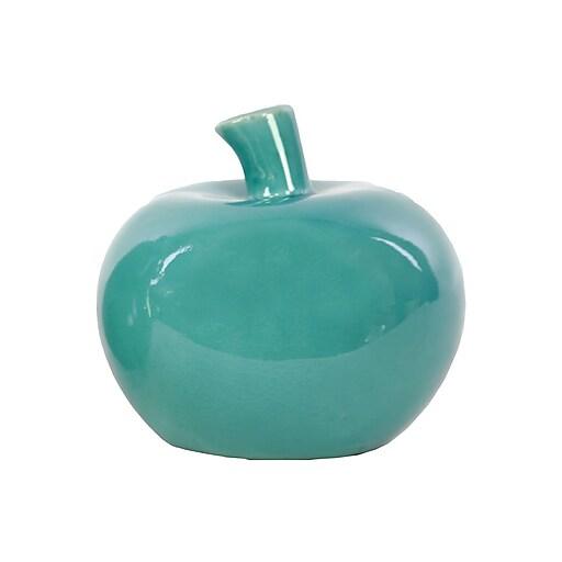 "Urban Trends Ceramic Figurine, 4.75""L x 4.75""W x 5""H, Turquoise (22126)"