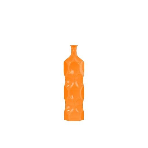 """Urban Trends Ceramic Vase, 4.75"""" x 4.75"""" x 17.5"""", Orange (24409)"""