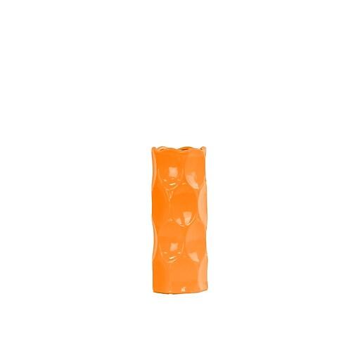 """Urban Trends Ceramic Vase, 4.5"""" x 4.5"""" x 11"""", Orange (# 24429)"""