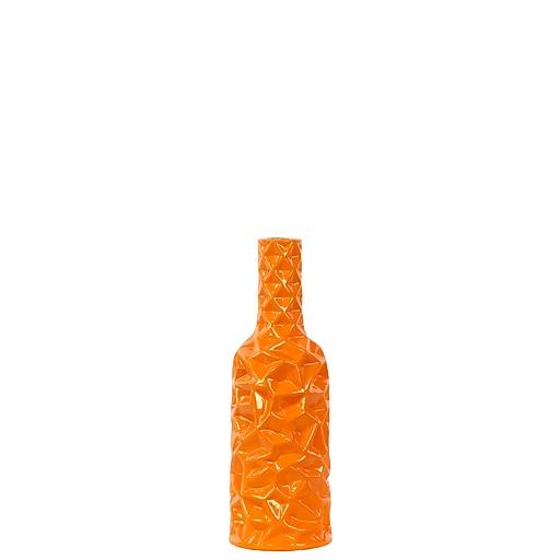 """Urban Trends Ceramic Vase, 4""""L x 4""""W x 12""""H, Orange (24439)"""