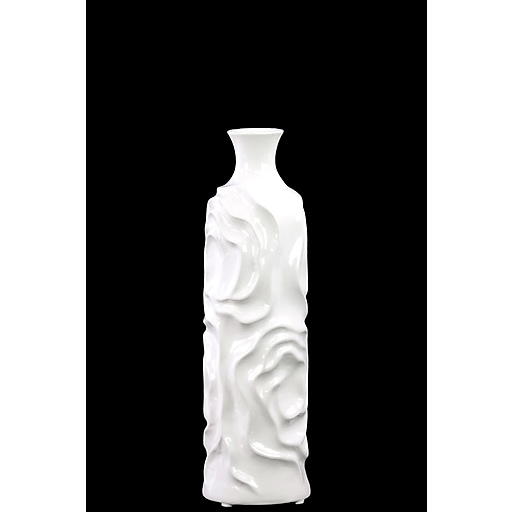 "Urban Trends Ceramic Vase, 4.5"" x 4.5"" x 15.5"", White (24454)"