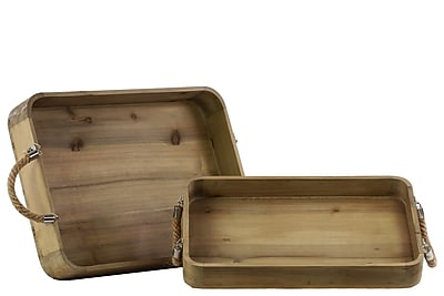Urban Trends Wood Tray, 20.5
