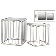 Urban Trends Collection Steel Accent Table, Gold, Each (25801)
