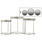 Urban Trends Collection Steel Accent Table, Gold, Each (25803)