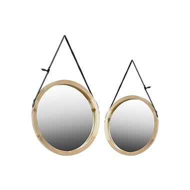 Urban Trends Wood Mirror, 23.75