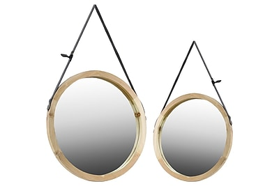Urban Trends Wood Mirror, 23.75