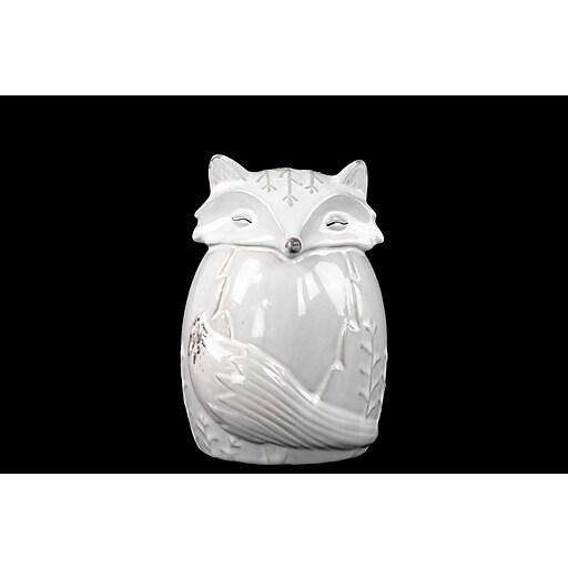 """Urban Trends Ceramic Figurine, 5""""L x 4.75""""W x 7.5""""H, White (27204)"""