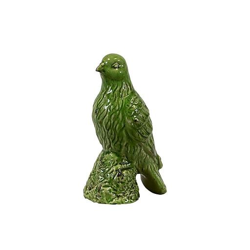 "Urban Trends Ceramic Figurine, 4.5""L x 6.5""W x 11.5""H, Green (28070)"