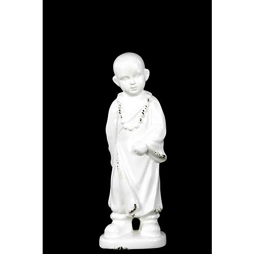 """Urban Trends Ceramic Figurine, 4.5""""L x 3""""W x 11.75""""H, White (28580)"""