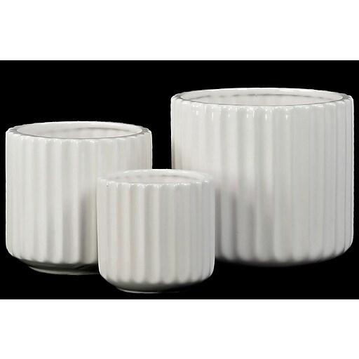 "Urban Trends Porcelain Vase, 6.25"" x 6.25"" x 6"", White (28622)"