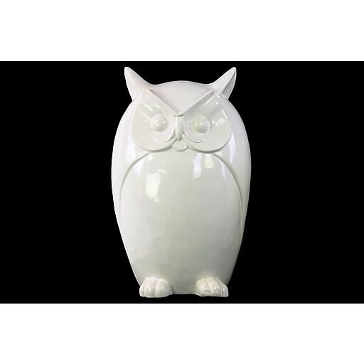 "Urban Trends Porcelain Figurine, 7""L x 5.5""W x 10.5""H, White (28626)"