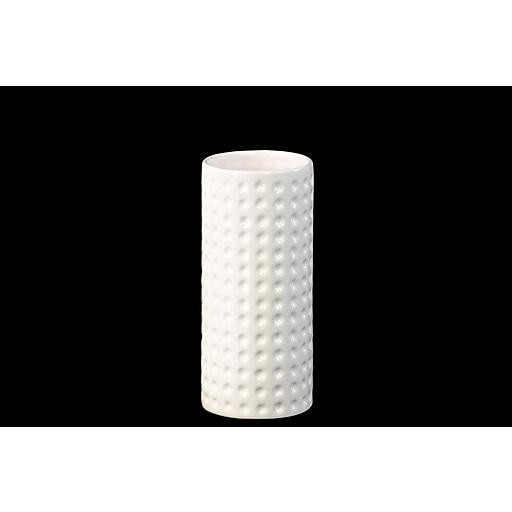 "Urban Trends Ceramic Vase, 4"" x 4"" x 9.5"", White (28802)"