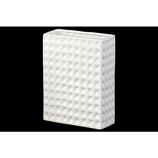 "Urban Trends Ceramic Vase, 6.5"" x 3"" x 8.75"", White (28806)"