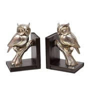 """Urban Trends Resin Bookend, 6.25""""L x 4.75""""W x 9.25""""H, Gold (30404)"""