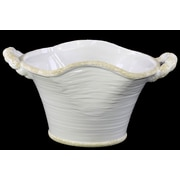 "Urban Trends Ceramic Pot, 15.25"" x 9.75"" x 8"", White (31808)"