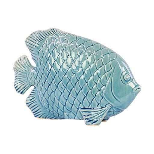 """Urban Trends Ceramic Figurine, 9.75""""L x 2.75""""W x 7""""H, Blue (32403)"""