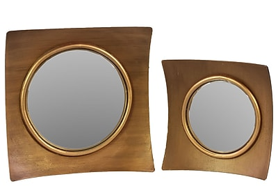 Urban Trends Wood Mirror, 15.5
