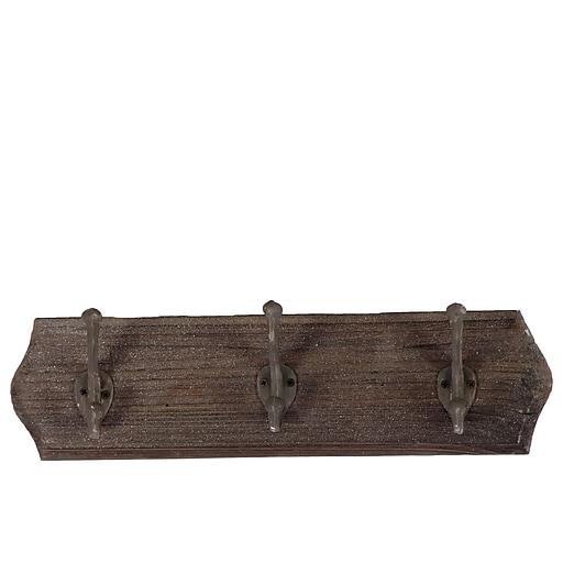 """Urban Trends Wood Hanger, 17.75"""" x 3.25"""" x 5.25"""", Brown (35063)"""