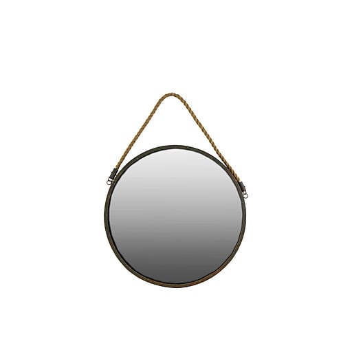 "Urban Trends Metal Mirror, 18"" x 1"" x 18"", Brown (35091)"