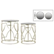 Urban Trends Collection Metal Accent Table, Gold, Each (36100)