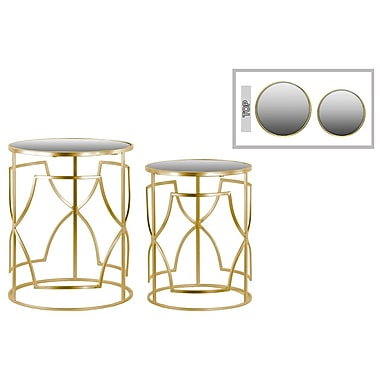 Urban Trends Collection Metal Accent Table, Gold, Each (36101)