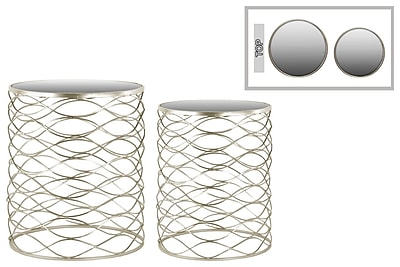 Urban Trends Collection Metal Accent Table, Gold, Each (36102)