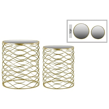 Urban Trends Collection Metal Accent Table, Gold, Each (36103)