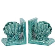"Urban Trends Ceramic Bookend, 6"" x 4.5"" x 6.5"", Turquoise (40049)"