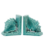 "Urban Trends Ceramic Bookend, 6"" x 4.5"" x 6.5"", Turquoise (40053)"