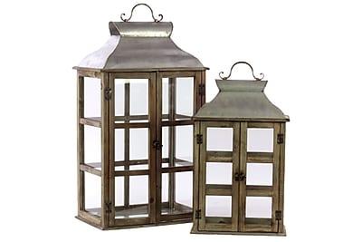 Urban Trends Wood Lantern, 12
